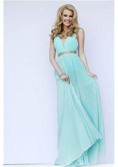 New Princess V Neck Straps Empire Evening Dresses with Beading