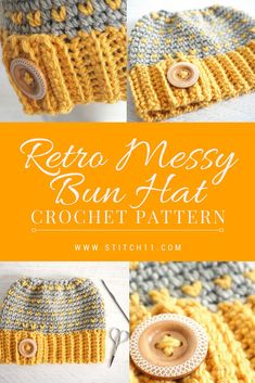 Here's a fascinating hair accessory that works either on good or bad hair days. Just look how cool this is! Check it out now. Crochet Beanie, Cute Crochet, Crochet Yarn, Beautiful Crochet, Crochet Designs, Crochet Patterns, Crochet Ideas, Crochet Fashion, Crochet Projects