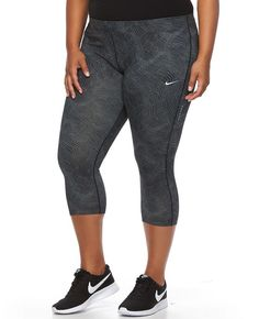 Plus Size Nike Essential Power Training Capri Workout Tights * Click image to review more details.