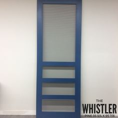 New solid wood superior screen doors - custom finished with Superior Paint Co. Sapphire Skies Chalk Paint and exterior varnish. Wood Screen Door, Screen Doors, Wood Doors, Chalk Paint Colors, Whistler, Color Of The Year, Ladder Decor, Solid Wood