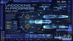 """""""Star Trek Into Darkness"""": One of the iconic starship's many displays shows the undocking protocol."""