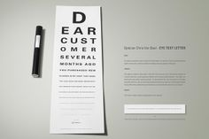Mailer from the eye doctor #promotions