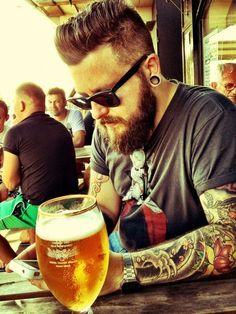he got beer'd