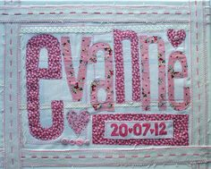"""SHABBY CHIC BABY Girl Nursery Decor, Personalized Baby Girl Wall Art, Christening or Baptism Gift. 16""""x 20"""""""
