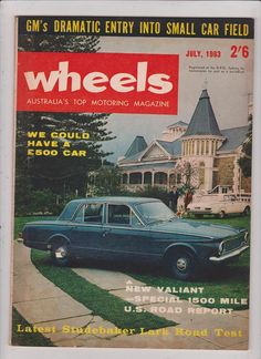 July 1963 Vintage Australian Wheels Magazine Birthday or Christmas Idea for Him by SuesUpcyclednVintage on Etsy