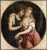연인의 신화적 표현(다프네스와 클로에). 파리스 보르도네.  다프네스와 클로에의 이야기를 다룬 또 다른 작품이다.