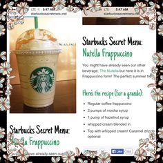 Starbucks secret recipes! #starbucks #frappacino #coffee Secret Starbucks Drinks, Starbucks Secret Menu Drinks, Starbucks Coffee, Starbucks Hacks, Smoothies, Smoothie Drinks, Smoothie Recipes, Coffee Frappuccino, Frosty Recipe