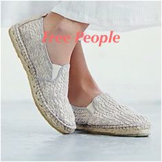 ☀️Free People Style: Freeway☀️☀️ Super cute, comfortable and great casual shoe!! Ivory, fits more like a 7.5 and different EURO charts consider a 38 to be a 7.5 - 8.  The box was marked at store as 7.5. Posh considers 38 - size 8 Free People Shoes Flats & Loafers