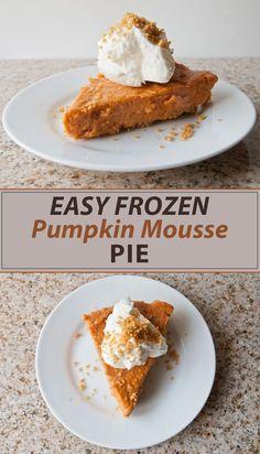 Easy Frozen Pumpkin Mousse Pie