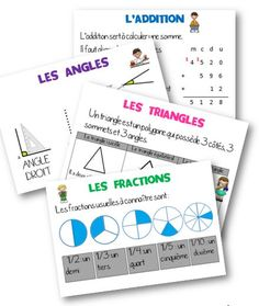 Displays for the class Math Measurement, Math Fractions, French Education, Kids Education, Education Application, Math School, 5th Grade Math, Teaching French, Math For Kids