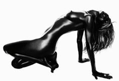 rosie_huntington_whiteley_by_rankin/ practice body position and 3d lighting.