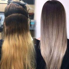 Silvered brunette