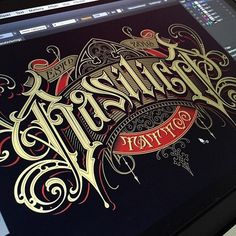 Our tattoo shop logo 🖤 Typography Drawing, Tattoo Lettering Fonts, Types Of Lettering, Graffiti Lettering, Typography Letters, Typography Logo, Lettering Design, Sign Writing, Vintage Typography