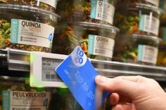 """Dutch Supermarket Adding """"Tap and Go"""" Product Labels"""