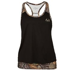Colosseum Realtree by Womens Xtra Camo Layered Active Racerback Tank (Medium, Black) Camo Girl Outfits, Western Outfits, Themed Outfits, Western Wear, Country Style Outfits, Southern Outfits, Womens Hunting Clothes, Camo Clothes, Hot Clothes