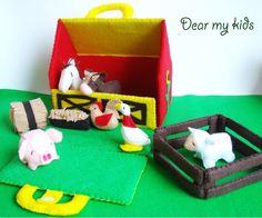 The happy farm animal friends play set PDF Patterns by dearmykids