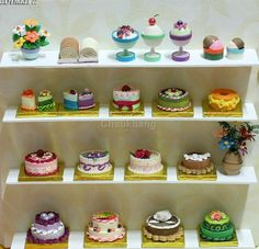 Cakes made with paper - Quilling