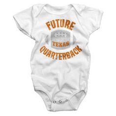 Texas Longhorns Future Quarterback White Onesie