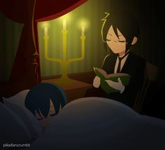 Sebastian:it a story i'll read to you for s long as you want it will be treat (ciel slowly turns) ciel:get out