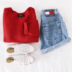 Image de outfit, red, and fashion