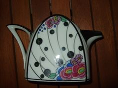 Art deco hand painted TLB Limoges milk jug