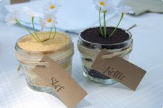Cute idea for a kids birthday party - dirty pudding!
