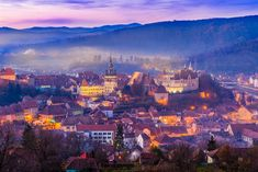 © The medieval fortress Sighisoara city, Transylvania, Romania © Balate Dorin / Shutterstock Capital Of Romania, Places Around The World, Around The Worlds, Visit Romania, Medieval Fortress, Romania Travel, Cultural Capital, Eastern Europe, Cool Places To Visit