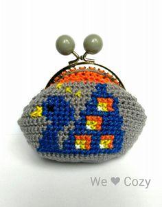 Peacock purse crochet cross stitch – We Love Cozy