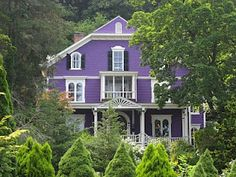 Purple house :O I am not the only one who thinks this is awesome! What would the neighbors think here in Enid? :)