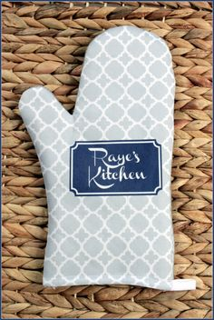 Oven Mitt Pot Holder Monogrammed Gift Set Personalized Oven Mitts Gifts for Mom Decor Dining Housewarming Hostess Gift Monogrammed Custom by ChicMonogram on Etsy