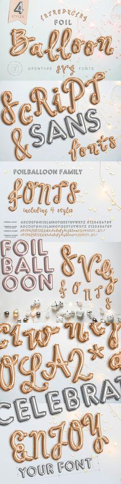 FoilBalloon - Color bitmap font by Evlogiev Creative on @creativemarket