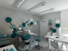 Panele Hexa. Gabinet stomatologiczny w Myślenicach. Projekt by Tyrybon Home.