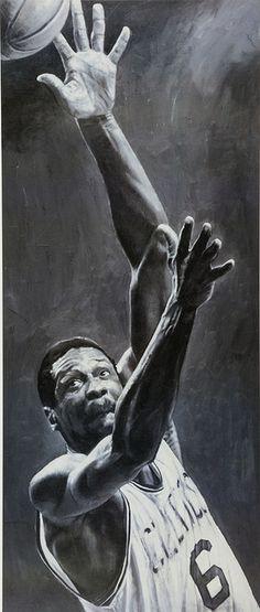 Bill Russell by Artist Stephen Holland