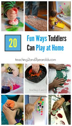 Looking for ideas your toddlers can do at home? Check out this collection from Teaching 2 and 3 Year Olds!