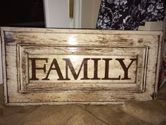 Custom Made To Order Last Name Shabby Chic Sign by AshAndAly