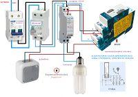 Esquemas eléctricos: minutero escalera con contactor conexion 4hilos