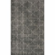 Sultry hues and stunning designs represent this hand-knotted woolen area rug. This classic rug features a geometric design that can really tie your room together.