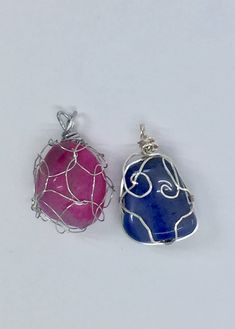 Brazilian Tumble Stone Wire Wrapped Pendants by NealyCreations on Etsy
