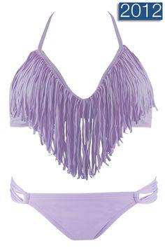 Lavender Fringe Bikini