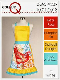 colourQ: October 2013. Real Red, Pumpkin Pie, Daffodil Delight, Cool Caribbean