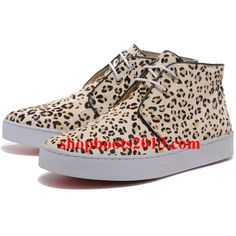 Christian Louboutin Leopard Canvas High Top Sneakers Nude/more than half off Cl Shoes, Nude Shoes, Louboutin Shoes, Cheap Louboutins, Christian Louboutin Sale, Christian Louboutin Red Bottoms, Womens Fashion Sneakers, Fashion Heels, Paris Fashion