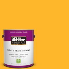 BEHR Premium Plus 1-gal. #P270-6 Soft Boiled Eggshell Enamel Interior Paint