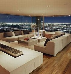 Luxury Living room with views