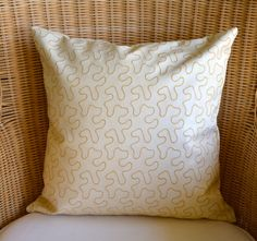Cream Faux Leather Pillow by StylishLiving1 on Etsy, $30.00