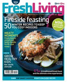 Fresh Living - June 2012 #MagazineCover Herb Bread, Celeriac, Oxtail, Winter Food, Healthy Kids, Pork Chops, Magazine Covers, Lamb, Roast