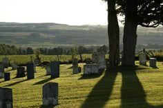<p>Ce cimetière date de 1803. Il a été restauré récemment et le point de vue sur la Vallée de la Coaticook y est magnifique.</p>