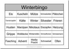 Dieses Bingo-Spiel für Senioren zur Jahreszeit bzw.zumThema Winterist eine Abwandlung des Spiele-Klassikers Bingo. Anstatt der Bingo-Zahlen wurden verschiedene Begriffe zum Thema verwendet. Diese Bingo-Vorlage enthält 10 Spielscheine für ...