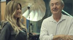 Nick Mason and Kirsty Bertarelli in Abbey Road Studios