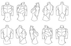 """""""Female Torso Rotation"""" Reference Sheet Art Drawing Tips   by 匿名の* • Blog/Website   ( ..... ) ★    *Please support the artists and studios featured here by buying this and other artworks in their official online stores • Find us on www.facebook.com/CharacterDesignReferences   www.pinterest.com/characterdesigh   www.characterdesignreferences.tumblr.com   www.youtube.com/user/CharacterDesignTV and learn more about #concept #art #animation #anime #comics    ★"""