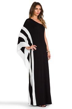 Rachel Zoe Azur One Shoulder Maxi Dress in Black & White | REVOLVE